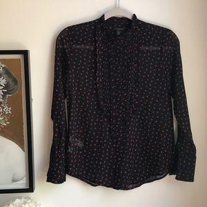 NWOT Ann Taylor patterned blouse XXSP
